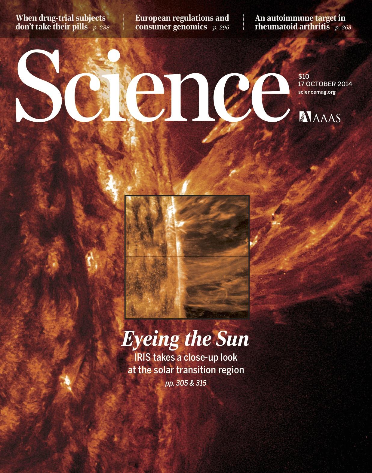 Science magazine cover