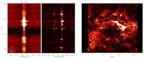 Slitjaw image and spectra of the Sun on 25-Oct-2013